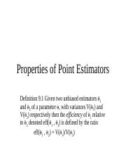ST - Topic 9 (Properties of Point Estimators).ppt