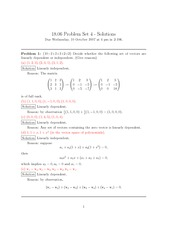 Problem Set 4 Solution Fall 2007 on Linear Algebra