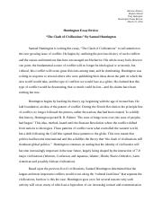 Huntington Essay Review