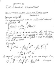 Chapter 6 The Laplace Transform