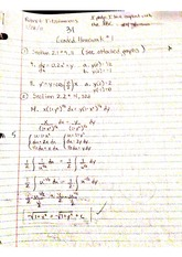 Differential Equations Homework Section 2.1