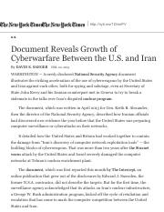 Document Reveals Growth of Cyberwarfare Between the U.S. and Iran - The New York Times.pdf