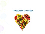 1 - Introduction to Nutrition(1)