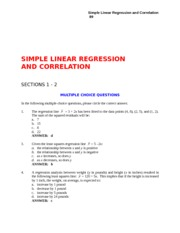 Study Guide with Answers - CH 17 - Simple Linear Regression