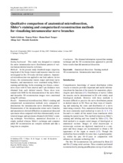 Qualitative comparison of anatomical microdissection,