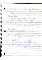Chapter 5.4 Properties of Logarithmic Functions