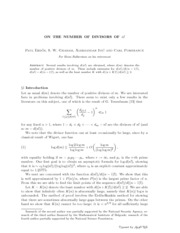 Lecture Notes math divfactorial