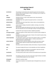 Anthropology 101-Exam #1 Study Guide