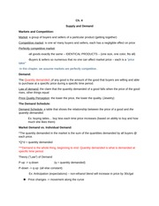 Supply and Demand Ch.4 Notes