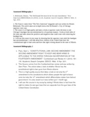 13th amendment annotated bibliography