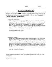 DevPsych_InClassActivity_Theories Worksheet