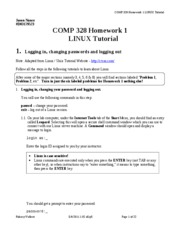 COMP 328 Homework 1 Linux Tutorial