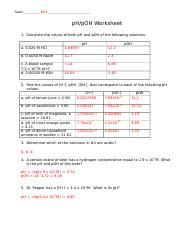 102pHpOHWORKSHEETKEY.doc - Name_KEY pH\/pOH Worksheet 1 ...