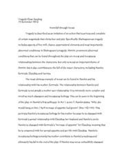 Tragedy Close Reading Paper