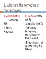 Remedies of the Taxpayer.ppt