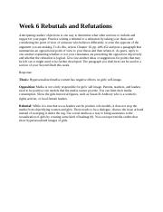 Week 6 Rebuttals and Refutations 3.3.docx