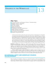 131 Ch13 Violence in the Workplace