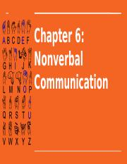 Chapter 6 - Nonverbal Communication.pptx