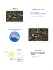 Lecture Slides on Surveying the Stars