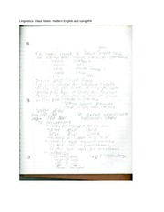 Linguistics- Class Notes- modern English and using IPA