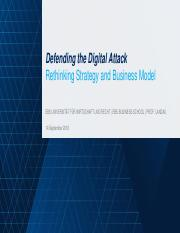 160914 Defending the Digital Attack  Rethinking Strategy and Business Model vf_presented_CampusNet.p