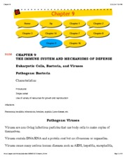 Chapter 9 The Immune System and Mechanisms of Defense