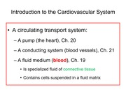 Anatomy and Physiology 2: Ch. 19 Blood, lecture slides