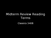Reading Terms Review