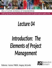 Lecture 04dm Project Management Intro - Elements of PM(2)
