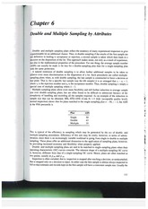 Muestreo doble y multiples por atributos. Libro de Schilling and Neubauer (2009)