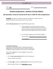 5 1studentsimulationguide doc - Name Rick Date Student Exploration