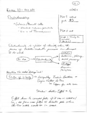 Lecture notes 33