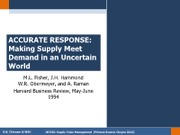 Chapter 9.2 - Accurate Response -- Making Supply Meet Demand in an Uncertain World