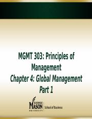 Chapter 4 Global Management(1)