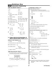 Geometry Chapter 2 PreQuiz ANSWER KEY 2013 - 1 m 90 and m2 ...