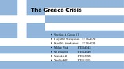 Section A Group 13 Greece Crisis