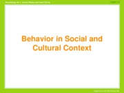 Chap 10-Behavior in contextHANDOUT