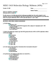 JR midterm ANSWER KEY - Page 1 of 10 MBIO 3410 Molecular ...