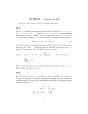 Math 443 Assignment #4