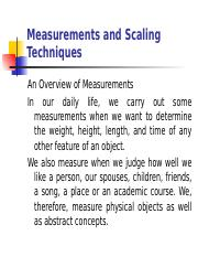 Lesson 5 Measurement and Scaling Techniques.ppt