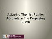 Proprietary Fund Net Position Accounts