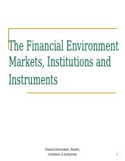 Financial Markets &   Institutions.ppt