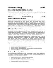Networking and Telecommunications.doc