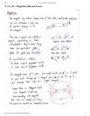 Magnetic Field and Forces Notes