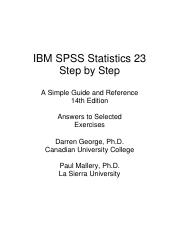 SPSS 23 Step by Step Answers to Selected Exercises.pdf