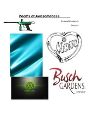 Poems of Awesomeness