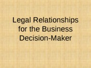Legal Relationships for the Business Decision-Maker - Posted_1