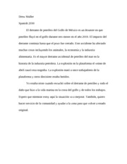 spanish paper on gulf spill
