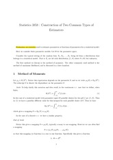 Ch8 Construction of Two Common Types of  Estimators
