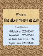 case study on time value of money Time value of money practice problems complete the following, solving for the present value, pv: case future value interest rate number of periods present.